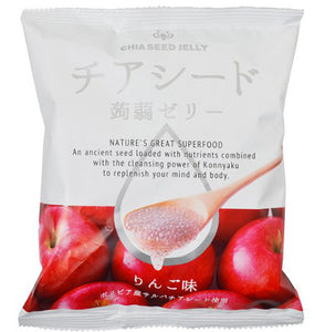 Chia seeds Konyaku jelly - Apple