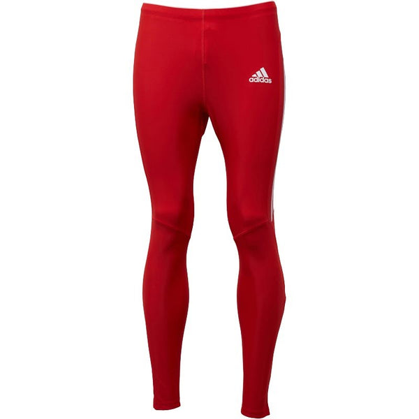 adidas Mens Long Running Tights University Red