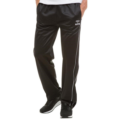 Fred & Boston Mens Tricot Track Pants Black