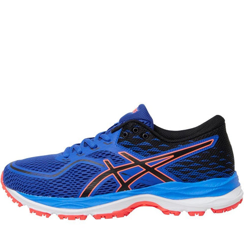 Asics Junior Boys Gel Cumulus 19 GS Neutral Running Shoes Blue Purple/Black/Flash Coral