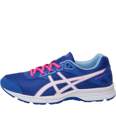 Asics Girls Gel Galaxy 9 GS Neutral Running Shoes Blue Purple/White/Airy Blue