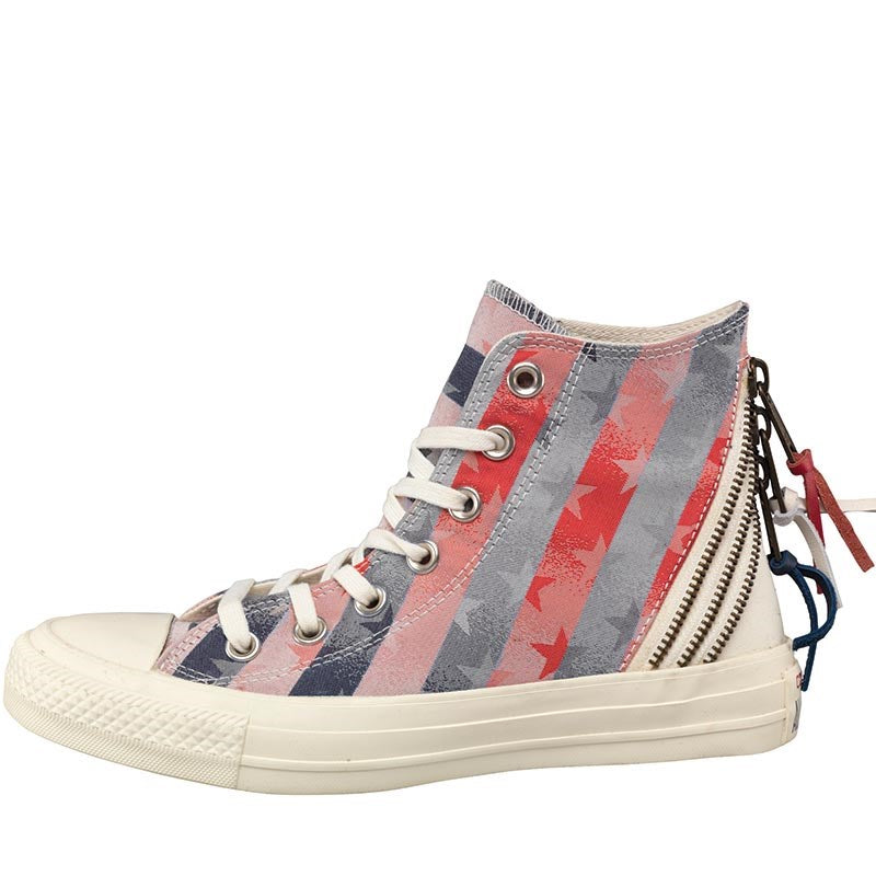 b1fe70b7950f Converse Womens CT All Star Hi Triple Zip Stars And Stripes Trainers C –  Vittarro