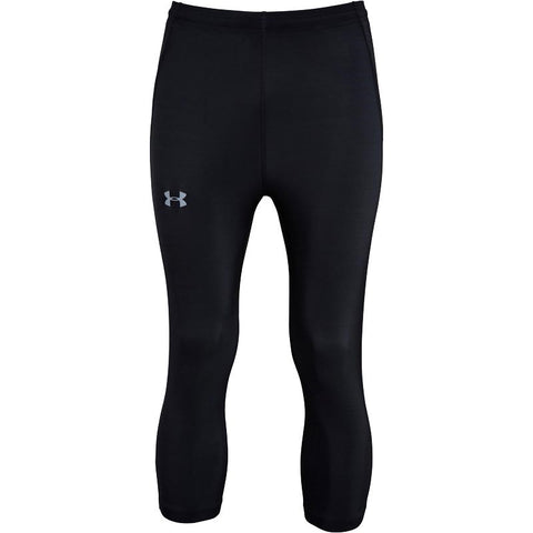 Under Armour Mens HeatGear Draft Compression Running 3/4 Tight Leggings Black