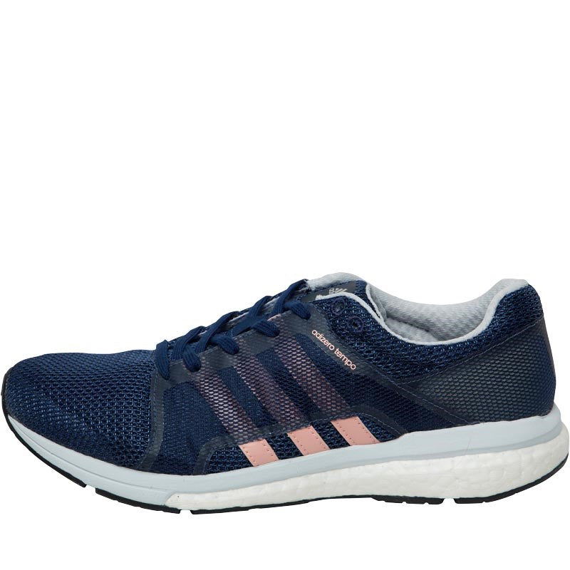new products c16c1 9db97 ... ireland adidas womens adizero tempo 8 boost lightweight stability  running shoes mystery blue still breeze a5b66