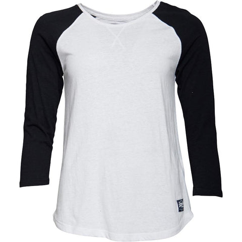 Superdry Womens Baseball Top Optic/Solid Eclipse Navy