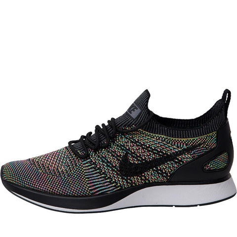 Nike Womens Air Zoom Mariah Flyknit Racer Trainers White/Black/Volt/Chlorine Blue