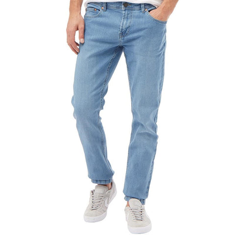 Troy Mens Best Slim Fit Jeans Light Blue
