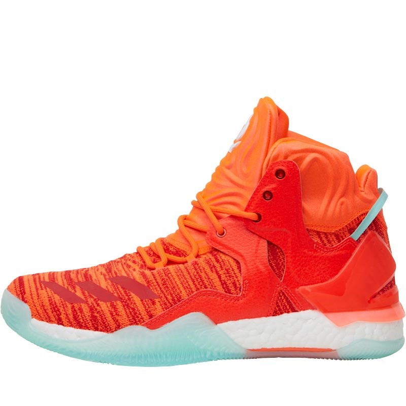 f4ee2eaf478c adidas Mens Derrick Rose 7 Primeknit Basketball Trainers Solar Red White Ice