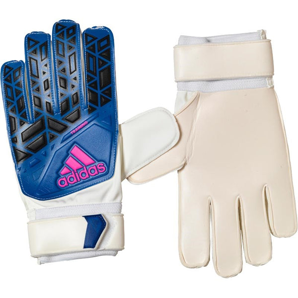 adidas Mens ACE Training Goalkeeper Gloves White/Blue