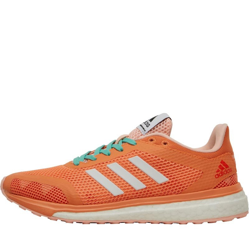 adidas Womens Response Plus Boost Neutral Running Shoes Easy Orange/White/Haze Coral