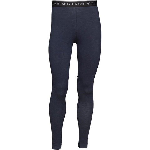 Lyle And Scott Fitness Mens Brodick Full Leggings Navy