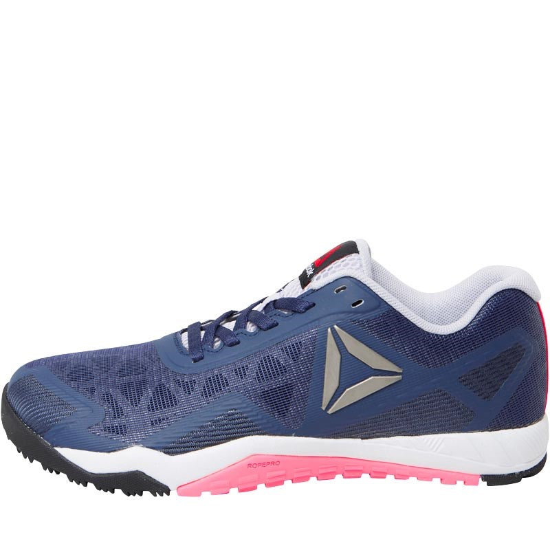 3268eb2c4635b8 Reebok Womens ROS Workout TR 2.0 Training Shoes Blue Ink Collegiate  Navy Lucid Lilac Poison
