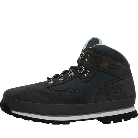 Timberland Junior Boys Euro Hiker Leather Boots Titanium