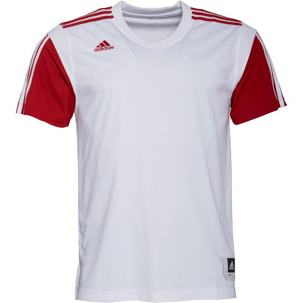 adidas Mens 3 Stripe Warm Up Shooter Basketball Top White/Power Red