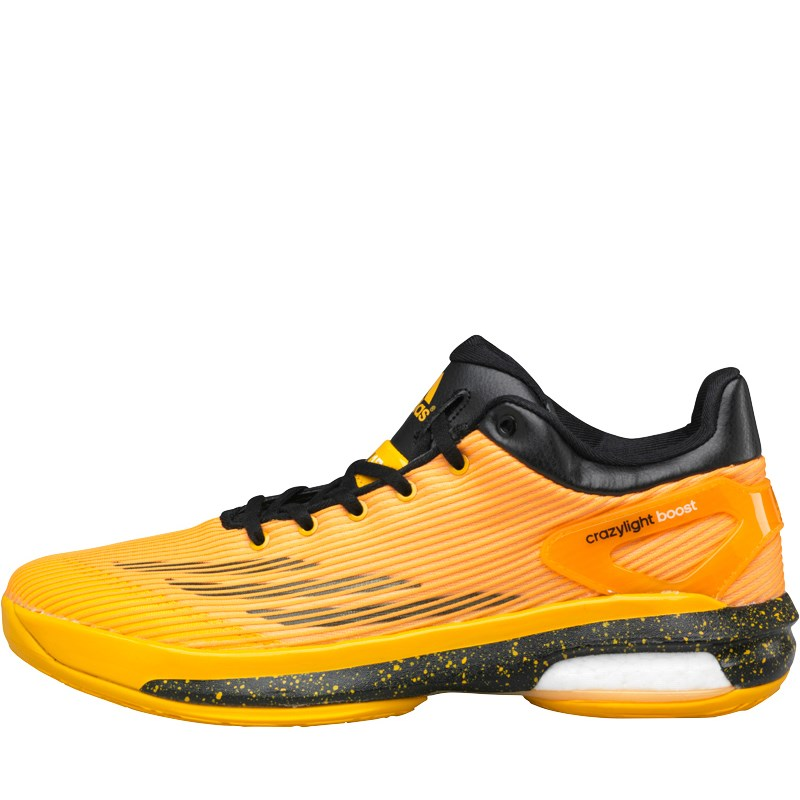 Adidas Crazylight Boost Low Basketball Shoes Gold/Black - Men's Shoes