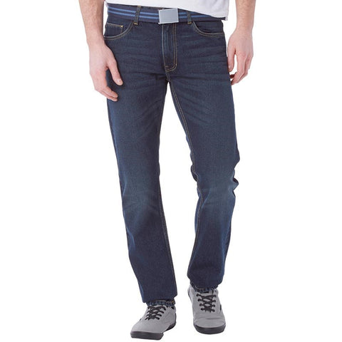 Kangaroo Poo Mens Rigid Straight Fit Jeans Darkwash