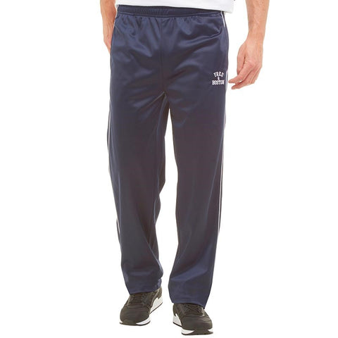 Fred & Boston Mens Tricot Track Pants Navy