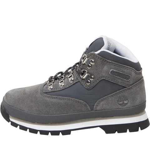 Timberland Boys Euro Hiker Leather Boots Titanium