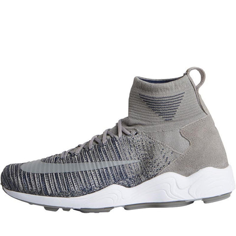 Nike Mens Zoom Mercurial XI Flyknit Trainers Light Charcoal/Light Charcoal/White