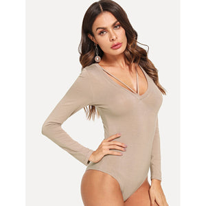 Cut Out Long Sleeve Bodysuit - www.maboutiquefashion.com
