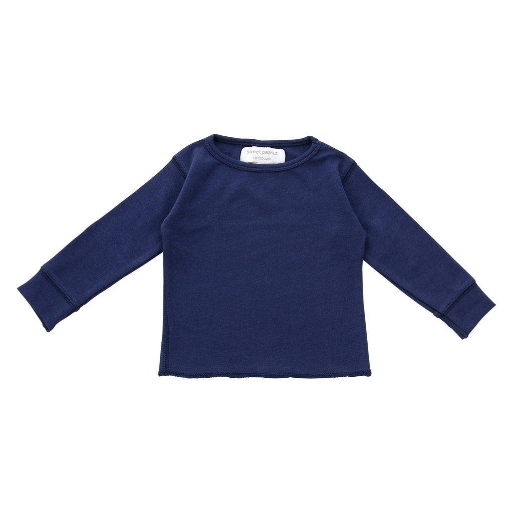 navy blue long sleeve shirt - www.maboutiquefashion.com
