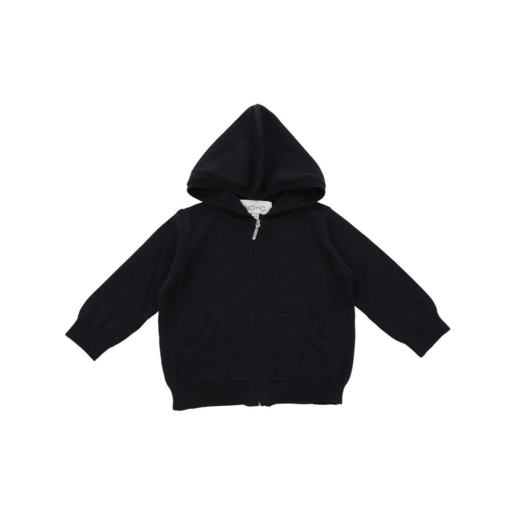 cotton cashmere navy hoodie - www.maboutiquefashion.com