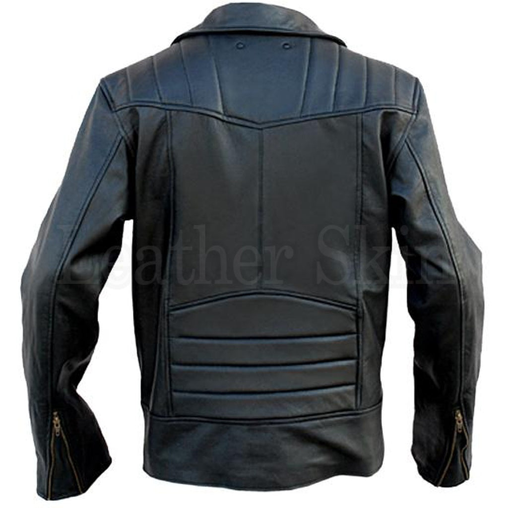 Black Brando Leather Jacket - www.maboutiquefashion.com
