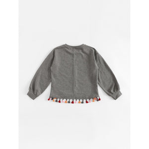 Fille Sweat-shirt avec franges - www.maboutiquefashion.com