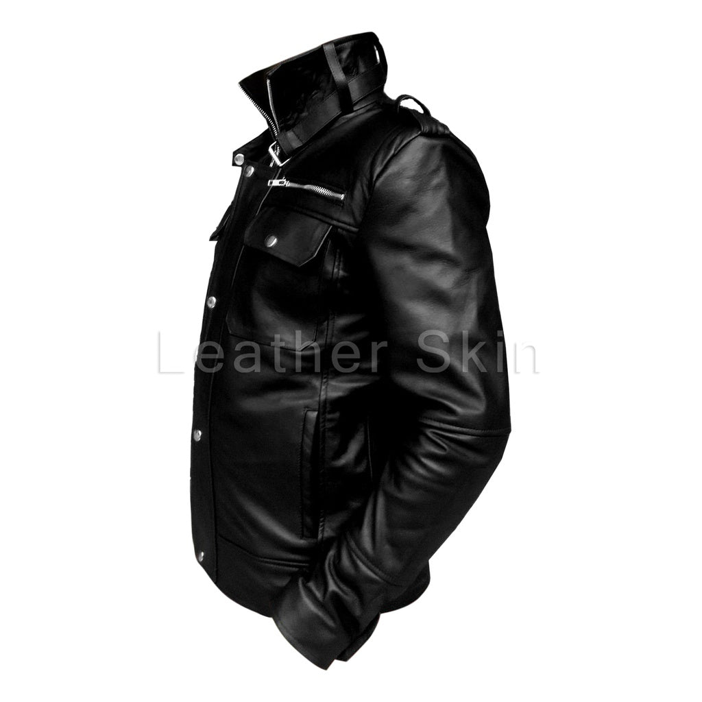 Men Black Leather Jacket - www.maboutiquefashion.com