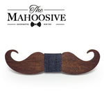 Mahoosive novelty neckties Handmade mustache Wooden bow tie men bowtie mens neck ties factory wholesale free shipping