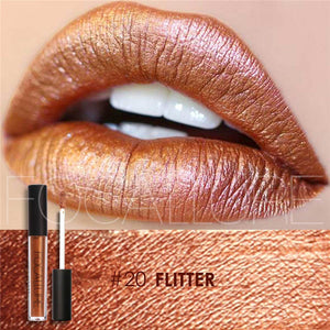 Make Up Lips Moisturizer Long Lasting Metallic Lipstick Matte Liquid Lip Tint Pigment Nude Metals Lip Gloss Matte Beauty Lips - www.maboutiquefashion.com