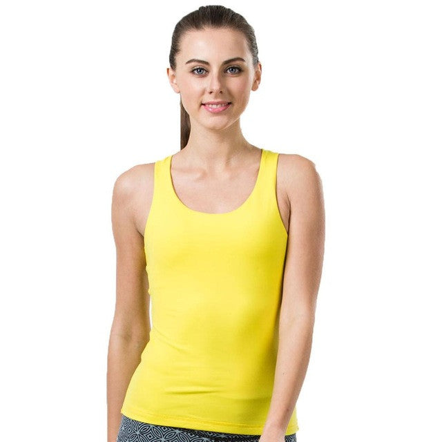 Fitness Yoga Shirts Women Breathable Fitness Women Sports Shirts Running Jogging Gym Running Tank Top Sexy Elastic Vest