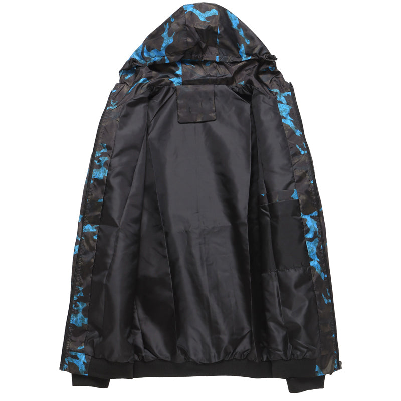Spring Autumn Mens Casual Camouflage Hoodie Jacket Waterproof - www.maboutiquefashion.com
