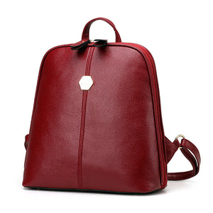 Xiniu Women's Backpack Travel Leather School Bags Rucksack Ladies Small Backpack #LREL