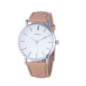 Womens Retro Design Leather Band Analog Alloy Quartz Wrist Watch