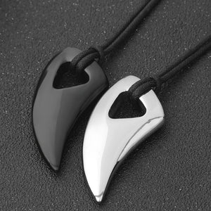 Fashion Black Wolf tooth Stainless Steel - www.maboutiquefashion.com
