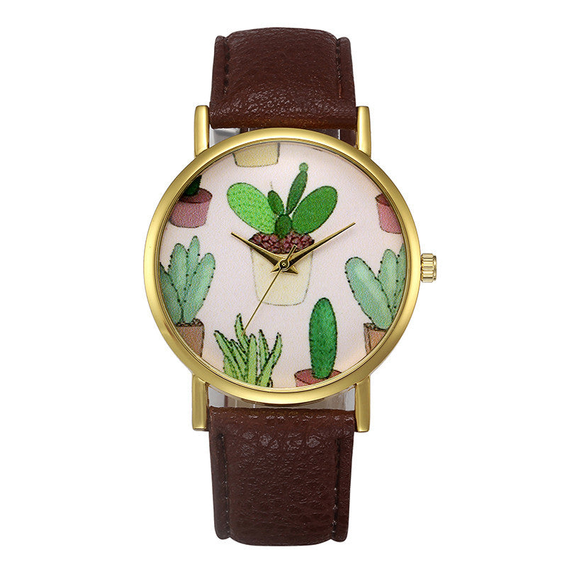 Fashion Womens Retro Design Leather Band Analog Alloy Quartz Wrist Watch - www.maboutiquefashion.com