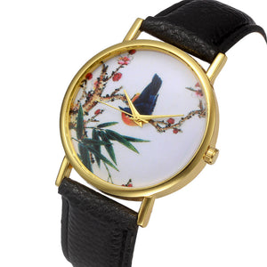 Women Retro Digital Dial Leather Band Quartz Analog Wrist Watch Watches - www.maboutiquefashion.com