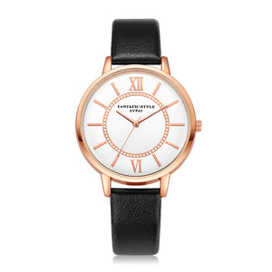 Fashion Women Roman Numeral Leather Quartz Analog Wrist Watch - www.maboutiquefashion.com
