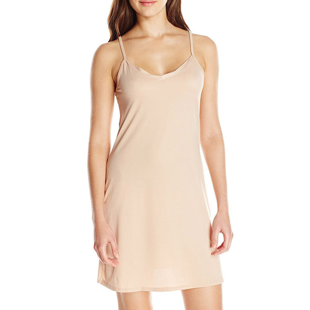 Fashion Women Ladies Sleeveless Solid Above Knee Dress Loose Party Dress - www.maboutiquefashion.com