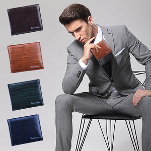 Men Bifold Business Leather Wallet  ID Credit Card Holder Purse Pockets - www.maboutiquefashion.com