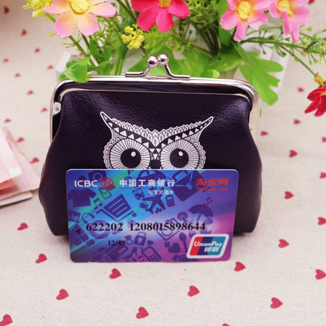 Womens Owl Wallet Card Holder Coin Purse Clutch Handbag - www.maboutiquefashion.com