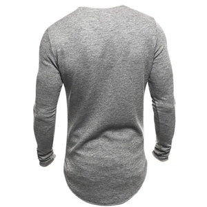 INCERUN Men Long Sleeved Knitted T-shirt Bodybuilding Gyms Fitness Tracksuit Tee Tops Round Neck Crossfit T Shirt 2018 Spring - www.maboutiquefashion.com