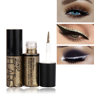 Professional New Shiny Eye Liners Cosmetics for Women Pigment Silver Rose Gold Color Liquid Glitter Eyeliner Cheap Makeup