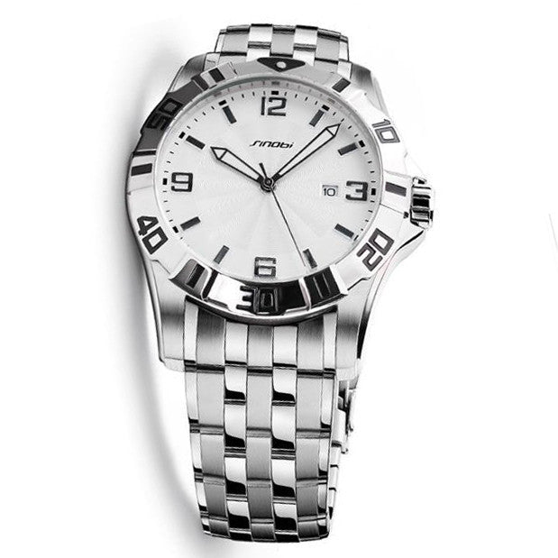 SINOBI top brand luxury stainless steel men's 10Bar waterproof watch - www.maboutiquefashion.com