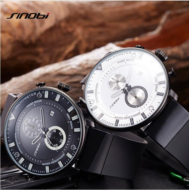 Ultra-thin waterproof chronograph men's watch SINOBI