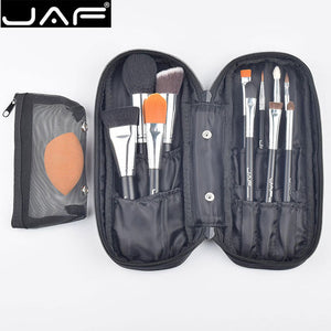 JAF Professional 12 PCS Makeup Brushes & Tool Set Unique Fuctions Cosmetic Complexion Sponge Polyester Zipper Case J1209MYZ-B - www.maboutiquefashion.com