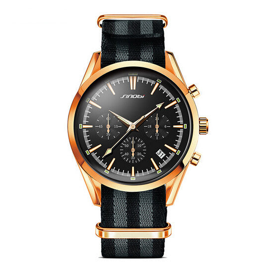 SINOBI fashion chronograph men's top luxury brand sports automatic date watch - www.maboutiquefashion.com
