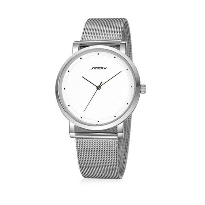 SINOBI Top Brand Luxury Watch Men's Stainless Steel Fashion Watch - www.maboutiquefashion.com