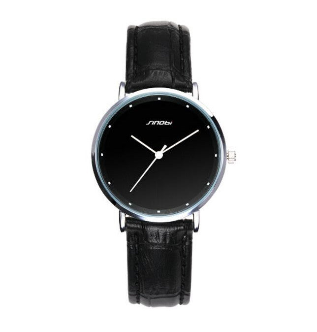 SINOBI Top Brand Luxury Watch Ladies Leather Band Fashion Watch - www.maboutiquefashion.com
